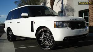 land rover black 2017 range rover savini wheels