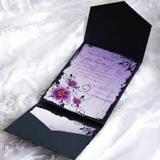 purple and silver wedding invitations pocket wedding invitations cheap wedding invitations free
