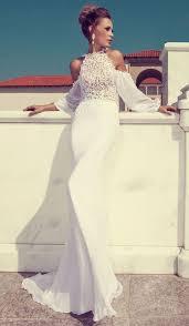 Halter Wedding Dresses 48 Trendy Halter Neckline Wedding Dresses Happywedd Com