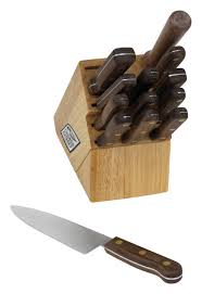 What Is A Good Set Of Kitchen Knives by Cutlery Walnut Tradition 14 Piece Kitchen Knife Set