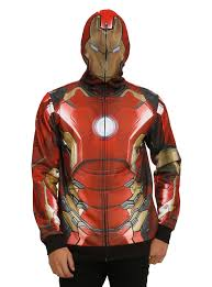 marvel iron man sublimation full zip hoodie topic