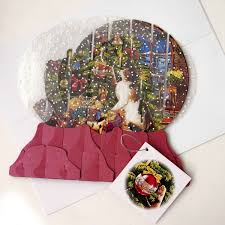 snow globe card lights card and decore