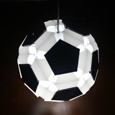 footbal ceiling lamp pp pendant lights infinity lights kids lamp