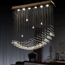 byb modern chandelier rain drop lighting crystal ball fixture
