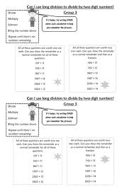 differentiated long division by slayer2k5 teaching resources tes