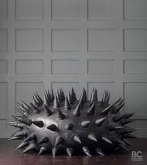 a 19 500 sea urchin inspired spiky leather bean bag chair