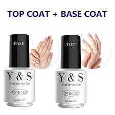 amazon com soak off gel nail polish y u0026s top coat and base coat