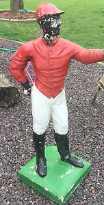 antique lawn jockey 44 black americana concrete yard ornament