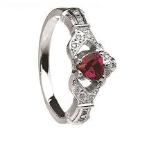 claddagh engagement ring ruby and diamond claddagh engagement ring