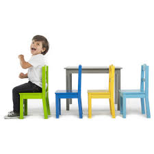 tot tutors table and chair set tot tutors elements grey wood table and 4 chair set toys r us