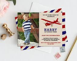 airplane invitation etsy
