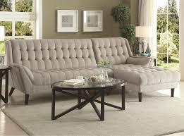 natalia contemporary style dove grey chenille fabric sofa sectional
