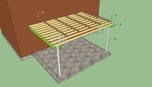 Pergola Rafter End Designs by Attached Pergola Plans Howtospecialist How To Build Step By