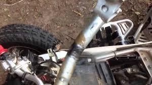 yfz450 bent steering stem youtube