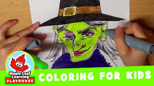 halloween coloring pages for kids maple leaf learning playhouse