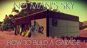 how to build a garage no man u0027s sky foundation update youtube