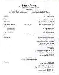Program For Funeral Service Funeral Program For Claude William Black Jr March 21 2009