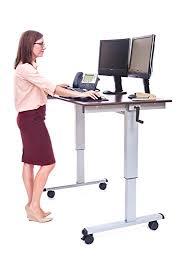 Industrial Standing Desk by Amazon Com Luxor Standup Cf48 Dw Stand Up Desk Crank Adjustable