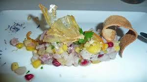 la cuisine capbreton tartare de maigre aux fruits exotiques picture of la cuisine