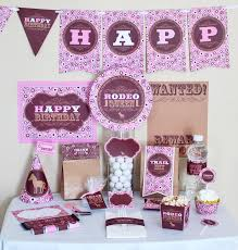 Horse Birthday Decorations Cowgirl Birthday Party Decorations Printable Cowgirl