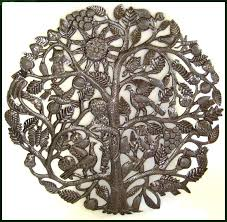 metal tree of wall hanging handcrafted in haiti