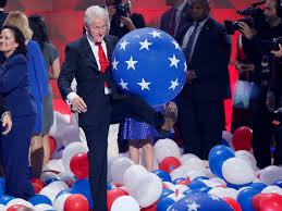 bill clinton plays with balloons at dnc business insider