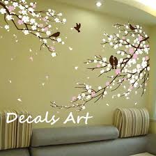 wall stickers murals white flower tree wall sticker wall decals ideas awesome wall