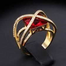 square crystal ring luxury women u0027s designer rings crystal unique