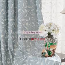 Leaf Pattern Curtains Fancy Curtains And Drapes With Leaf Pattern Of Embroidery Buy