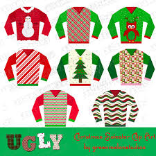 Ugly Christmas Sweater Party Poem - ugly christmas sweater party clipart instant download uprint