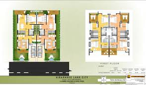 hirashree lake city floor plans project 3d views in kolhapur bungalow layout plan