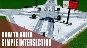 how to build an easy intersection in cities skylines youtube