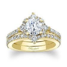 gold bridal sets barkev s halo yellow gold bridal set 7995sy barkev s