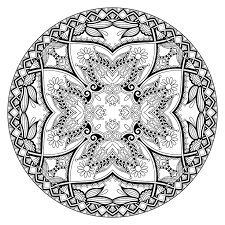 coloring pages quarter difficult mandalas 11 best difficult mandala coloring pages