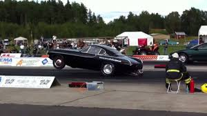 volvo race car 406 cubic inch volvo p1800 drag racer gets into the 8s
