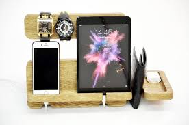 Diy Ipad Charging Station Charging Station Personalized Wooden Ipad Docking Station Desk