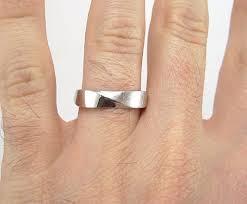 5mm ring mobius wedding band 5mm mobius ring in 18k white gold mobius