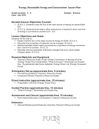 energy renewable energy and conservation lesson plan