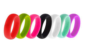 women u0027s silicone wedding ring by fit ring active wedding
