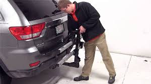 jeep grand platform review of the thule t2 platform style hitch bike rack on a 2012