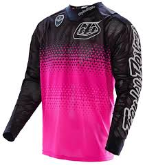 womens motocross gear packages troy lee designs se air starburst jersey pink black motocross