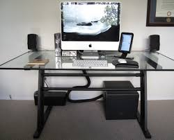 table black glass desk with drawers awesome glass table desk