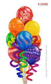 balloon delivery balloon bouquets twisty birthday balloon bouquet 10 balloons