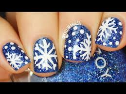 how to draw snowflake nail art freehand super easy kelli