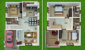 3d ground floor plan 2bhk room and car parking 3d design inspirations bhk ground floor