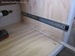 Sliding Drawers For Kitchen Cabinets Diy Best Lowes Drawer Slides For Your Cabinet And Drawer Hardware