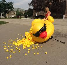 taxpayers federation protests giant rubber duck calls it a u0027waste