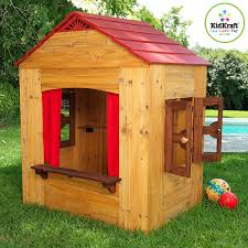 wooden backyard playhouse outdoor goods