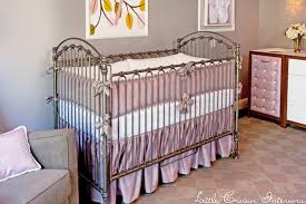 Purple Grey Crib Bedding by Gray Crib With Purple And Gray Bedding Transitional Nursery