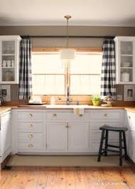 ideas for kitchen window curtains the black and white buffalo check curtains colors